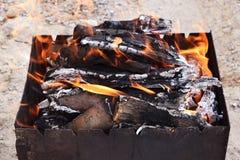 Węgle dla gotować Obraz Stock