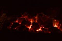 Węgle palenie węgiel Obraz Stock