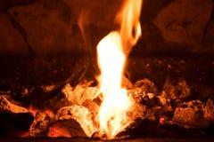 Węgle palenie węgiel Zdjęcie Stock