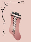 węglowa niegrzeczna różowa pończocha Obrazy Stock