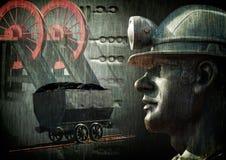 Węglowego górnika kolaż Obrazy Stock