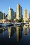węglowy mieszkań własnościowych schronienia marina Vancouver Obrazy Royalty Free