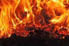 Węglowy ogień fotografia royalty free