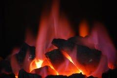 węglowy płonący Zdjęcia Royalty Free