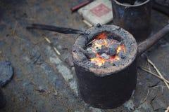 węglowy płonący Obraz Royalty Free