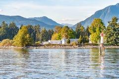 Węglowy schronienie nabrzeżem w w centrum Vancouver obraz royalty free