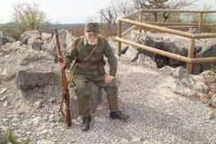 Węgra żołnierz pierwsza wojna światowa z pistoletem Obraz Stock