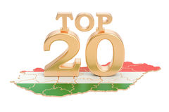 Węgra wierzchołka 20 pojęcie, 3D rendering Fotografia Stock