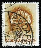 Węgra znaczek pokazuje Świętą koronę St Stephen, 900th rocznica śmierć St Stephen około 1938, Zdjęcia Stock