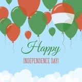 Węgry dnia niepodległości mieszkania kartka z pozdrowieniami Obraz Royalty Free