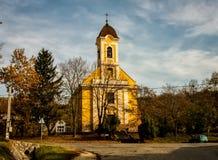 Węgry Kajà ¡ rpéc miasteczka kościół obraz royalty free