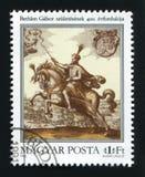 WĘGRY - OKOŁO 1980: Znaczek pocztowy drukujący w Węgry, przedstawienia fotografia royalty free