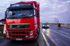 Węgry przynosił w Ukraina 50 ton humanitarna pomoc Obraz Stock