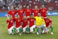 Węgry vs życzliwy Niemcy mecz futbolowy Obraz Royalty Free
