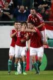 Węgry vs Faroe wysp UEFA euro określnika futbolu 2016 matc Fotografia Royalty Free