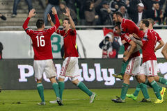 Węgry vs Norwegia UEFA euro określnika dogrania 2016 futbolowy dopasowanie Obrazy Royalty Free