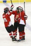 Węgry vs. Włochy IIHF mistrzostwa lodowego hokeja Światowy dopasowanie Obrazy Royalty Free