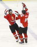 Węgry vs. Włochy IIHF mistrzostwa lodowego hokeja Światowy dopasowanie Obraz Stock