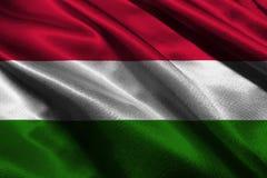 Węgry zaznacza, 3D Węgry flaga państowowa 3D ilustraci symbol Zdjęcia Royalty Free