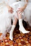 włóż buty white Zdjęcie Royalty Free