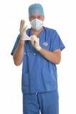 włóż rękawiczki chirurga. Fotografia Royalty Free