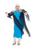 Włóczydło królowa ubierająca jako żeński piosenkarz Zdjęcie Royalty Free