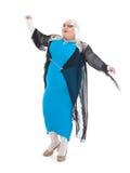 Włóczydło królowa ubierająca jako żeński piosenkarz Obrazy Royalty Free