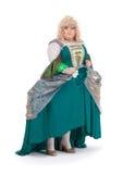 Włóczydło królowa w rocznik sukni zdjęcie royalty free