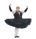 Włóczydło królowej taniec w spódniczce baletnicy zdjęcia royalty free