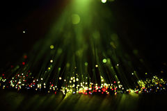 Włókien światłowodowych świateł abstrakta tło Obrazy Royalty Free