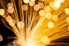 Włókna Światłowodowego światło Zdjęcie Stock