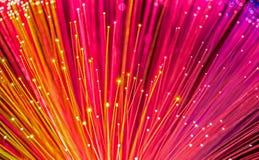 Włókna okulistyczny sieci kabel obraz stock