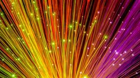 Włókna okulistyczny sieci kabel zdjęcia stock