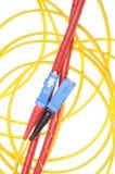 Włókno światłowodowe kabli typ sc Obraz Stock