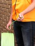 Włókno światłowodowe tasiemkowy kabel nawijał mała kablowa cewa Obrazy Stock