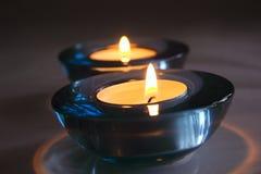 właściciele candle Fotografia Royalty Free