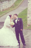 Właśnie para małżeńska Obraz Stock