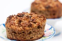 Właśnie piec całkowi pszeniczni otrębiaści muffins Zdjęcie Royalty Free
