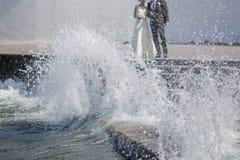 Właśnie poślubiający za kipielą Zdjęcia Royalty Free