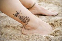 właśnie tatuaż fotografia royalty free