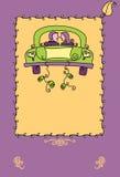 właśnie zamężny plakat ilustracji