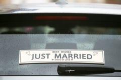 właśnie zamężny znak zdjęcie royalty free