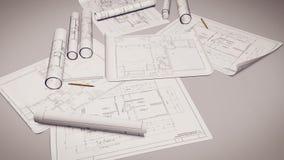Władca i ołówki na projekty ilustracja wektor