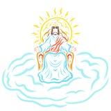Władyka Jezus, powtórne przyjście, Na tronie w koronie ilustracji