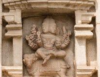 Władyki Agni malowidło ścienne przy Srikanteshwara świątynią w Ganjangud, India Zdjęcie Stock