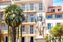 Władyki Brougham statua w Cannes mieście fotografia stock
