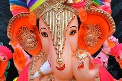 Władyki Ganesha statua blisko Hollywood Basti, Ahmedabad zdjęcia stock
