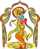 Władyki Krishna świątynia ilustracji