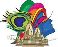 Władyki Krishna świątynia 4 ilustracja wektor
