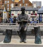 Władyki Robert Baden Powel brązu statua Poole Quay Zdjęcia Royalty Free